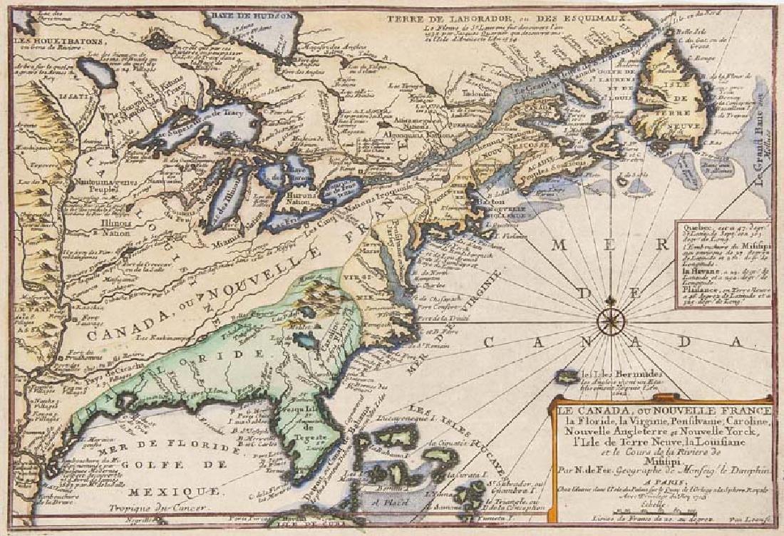 de Fer, Nicolas Le Canada, ou Nouvelle France, la