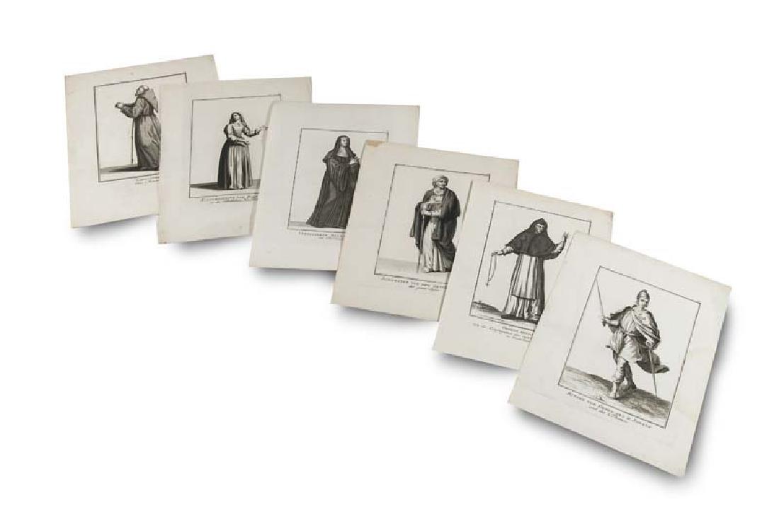 Sammlung von 217 Kupfertafeln mit Darstellungen von