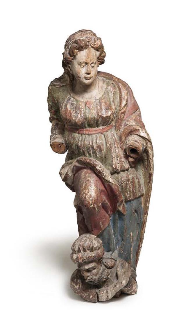 Die heilige Katherina, zu ihren Füßen der überwundene