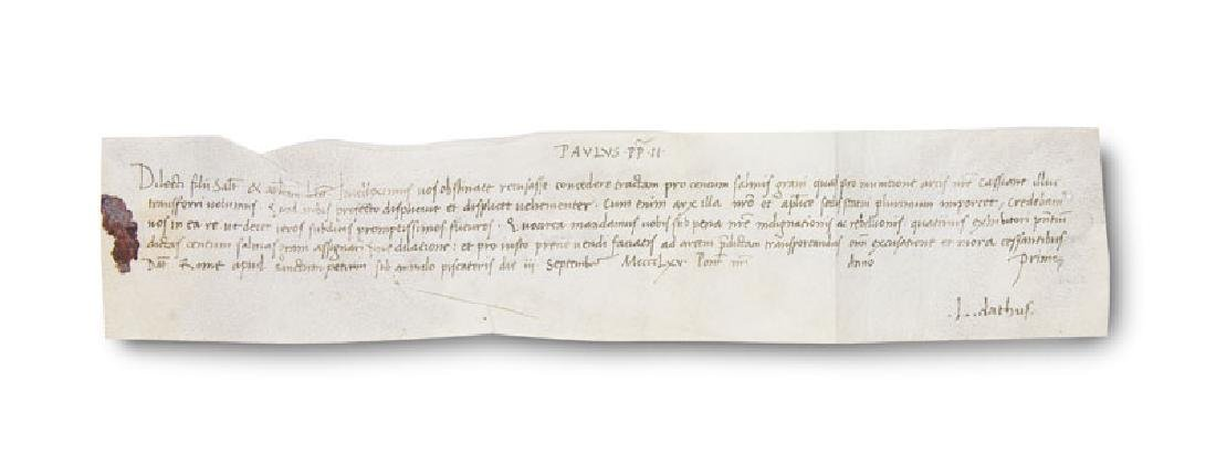 Paul II. u. Leonardo Dati Päpstliche Breve mit
