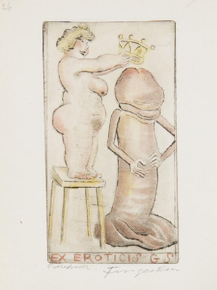 Fingesten, Michel Sammlung von 10 Exlibris, überwiegend - 2