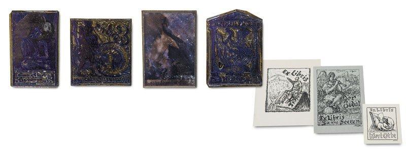 Kubin, Alfred (nach) Vier Druckplatten (Klischees) zu