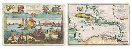 de Fer, Nicolas Atlas curieux. Fragmtarischer Atlas mit