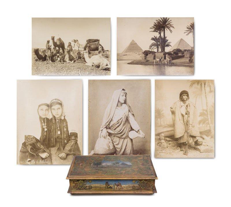 Sammlung von 85 Photographien mit Orientmotiven im
