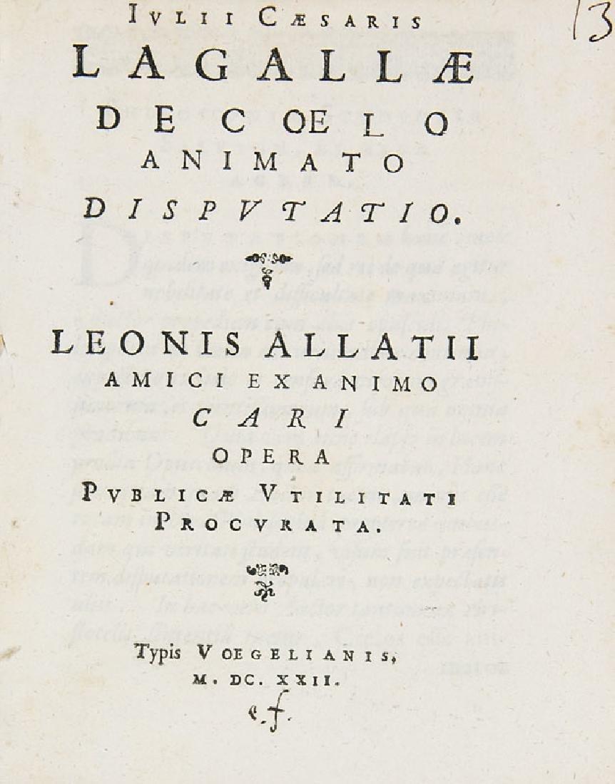 Lagalla, Giulio Cesare De coelo animato disputatio.