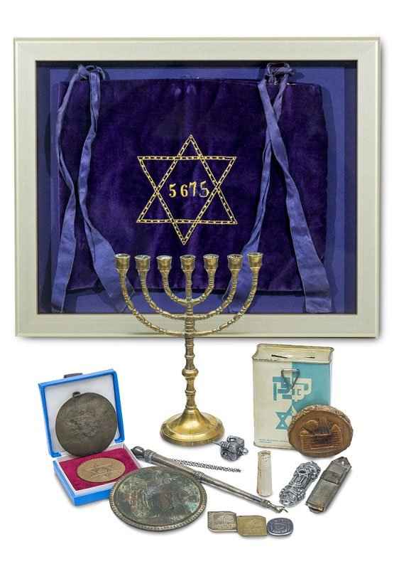 Sammlung von versch. Objekten des religiös jüdischen