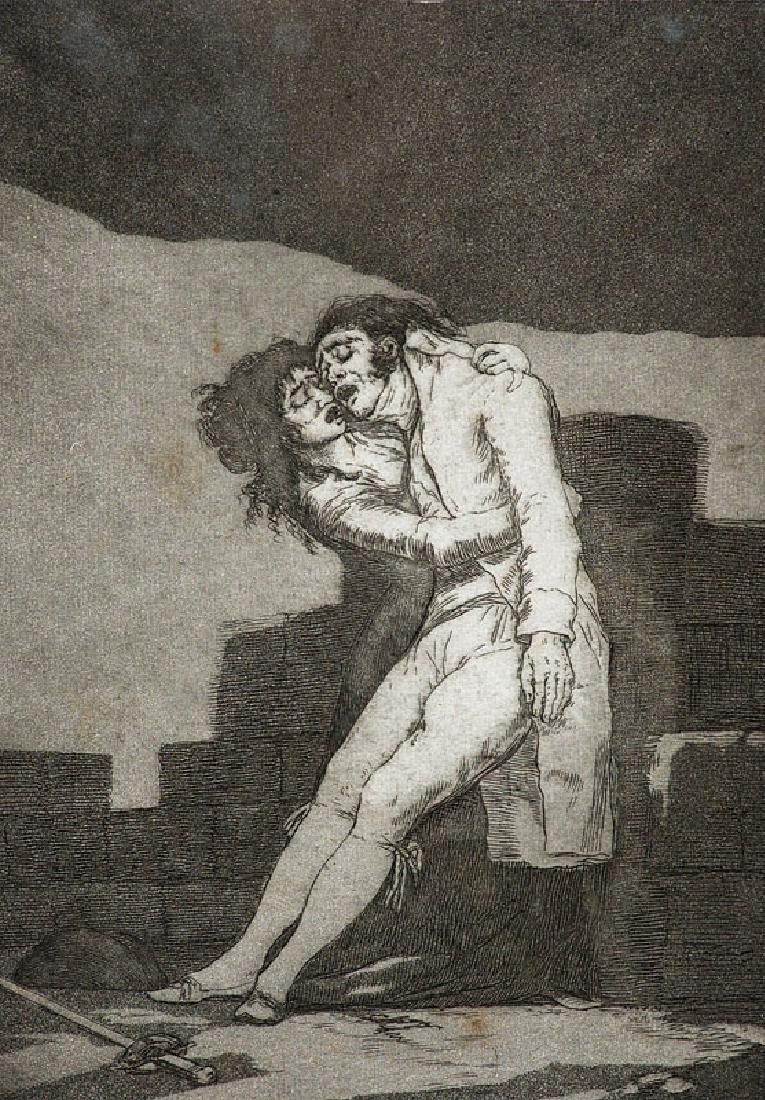 Goya, Francisco de El amor y la muerte/Qué alboroto es