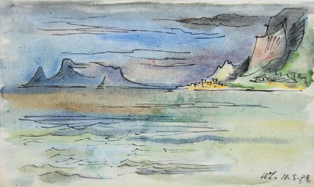 Lochmüller, Walter Bucht von Palermo. 1978. Aquarell