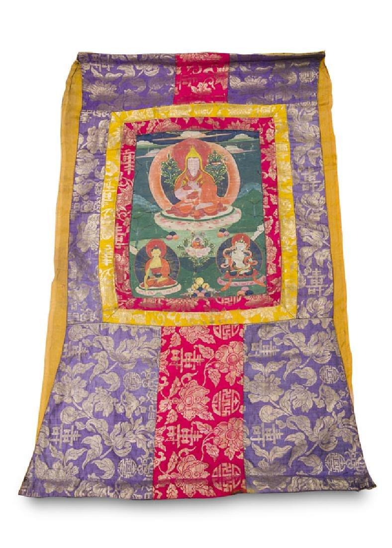 Thangka mit Darstellung des Jamgön Ju Mipham Gyatsho