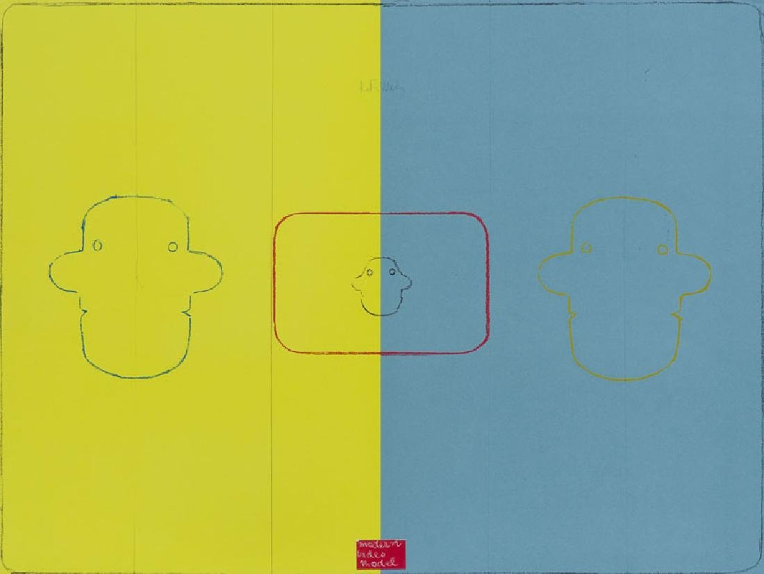 Filliou, Robert Modern Video Model. (1984). Farboffset.