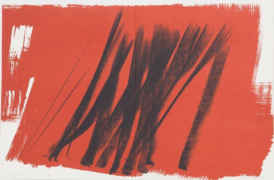 Hartung, Hans o.T. Lithographie in Schwarz und Rot auf