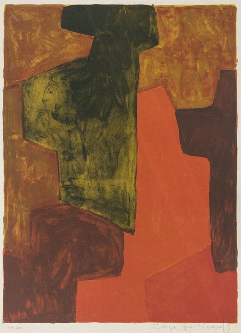 Poliakoff, Serge o.T. (Komposition in Rot und Schwarz).