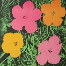 Warhol, Andy Flowers. 1964. Farboffset-Lithographie auf