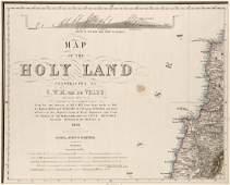 Velde C W M van de Map of the Holy Land 8