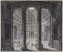 Piranesi, Giovanni Battista Veduta interna del Panteon.