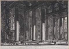 Piranesi, Giovanni Battista Veduta interna del Pronao