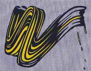 Lichtenstein, Roy Brushstroke. 1965. Farbserigraphie in