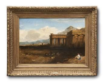 Hering, George Edwards Griechische Tempelruinen in
