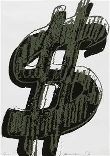 Warhol Andy $ (Dollar Sign). (1982). Unikat.