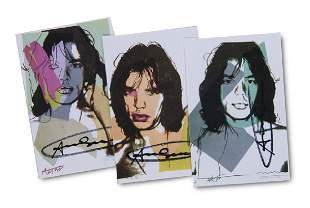 Warhol  Andy - nach Mick Jagger Karten. 1975. Set von