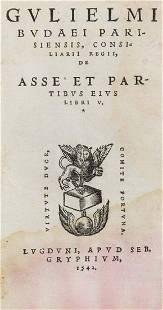 Guillaume Bud De asse et partibus eius libri V Mit