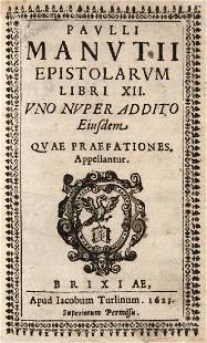 Paulus Manutius Paulli Manutii Epistolarum Libri XII