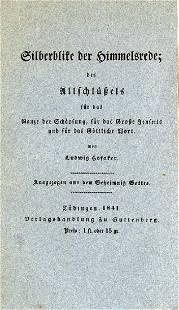 Ludwig Hofacker Silberblike der Himmelsrede des