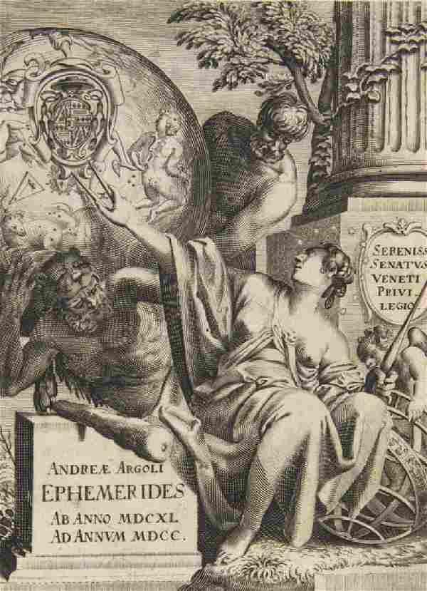 Andrea Argoli Ephemerides. Ab Anno 1641. ad Annum 1700.
