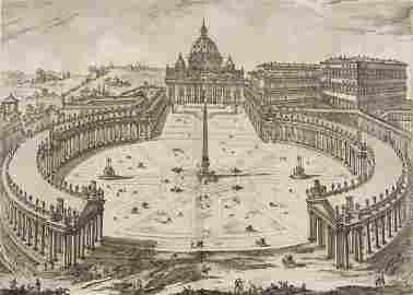 Jean Barbault Les plus beaux edifices de Rome moderne.