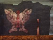 Lehoucka, Josef o.T. Öl auf Holz. 36,5 x 47,5 cm.