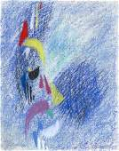 Ackermann, Max An die Freude. 1956. Pastell auf Bü