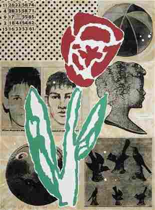 Baechler, Donald Flower. 1994. Farbserigraphie auf