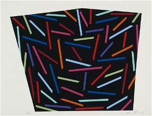 Cote, Alan Trycker. Serigraphie auf Vélin. 33,6 x