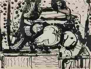 Hofmann, Hans o.T. Um 1932. Tusche auf Papier. 21,5 x