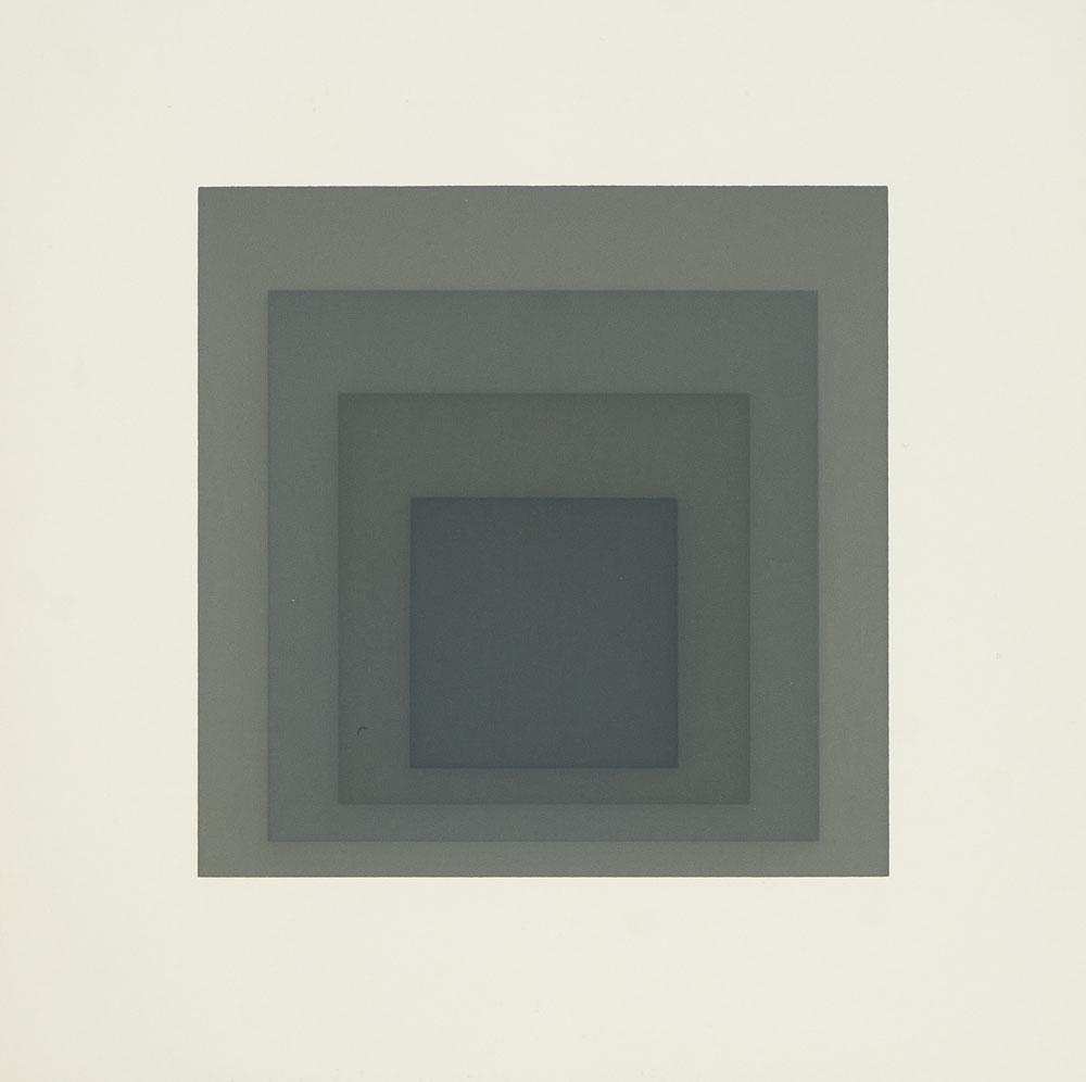 Albers, Josef Gray Instrumentation I. 1974. 12,8 x 12,8