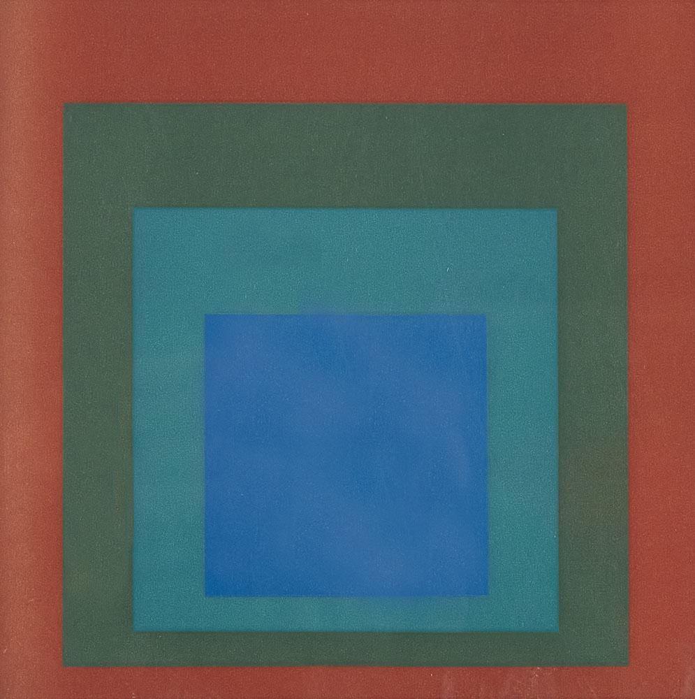 Portfolio von 7 Siebdrucken: Josef Albers, Crepuscular,