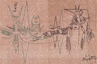 Wilfredo Lam. Suites Nr. 3, April 1963. Mit
