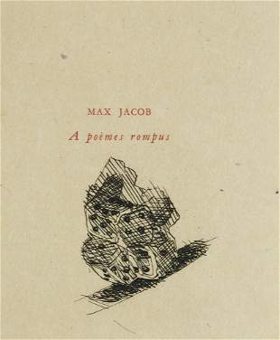 Jacob, Max A poèmes rompus. Mit 1 gestoch.