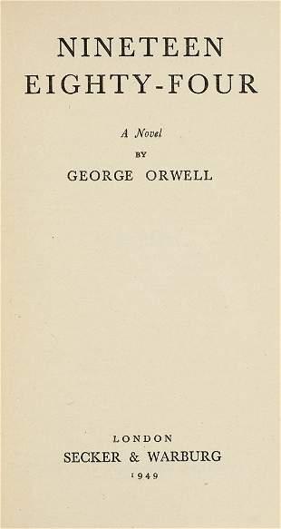 Orwell, George Nineteen Eighty-Four. London, Secker &