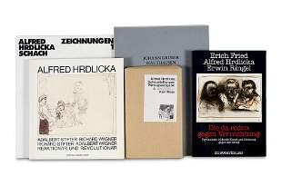 Hrdlicka, Alfred Sammlung mit fünf Werken mit