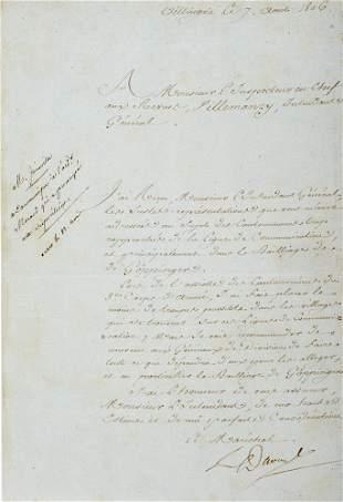 """Davout, Louis-Nicolas """"Brief mit eigenhändiger"""