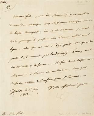 Napoleon I Brief mit eigenhändiger Unterschrift an