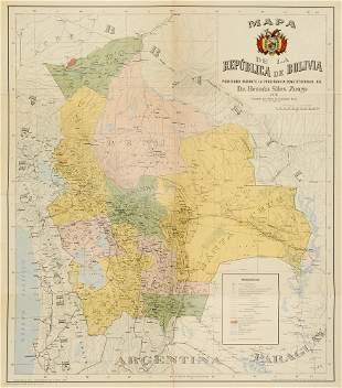 2 Karten von Bolivien. Je 1:3.000.000.