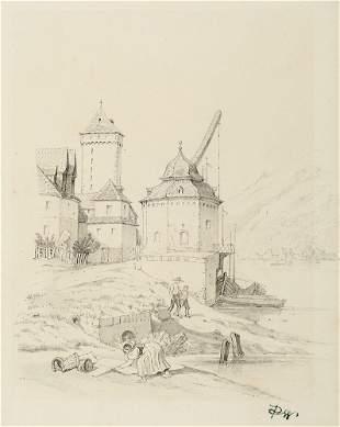 Sammlung von 5 feinen Original-Zeichnungen. 19. Jh. Je