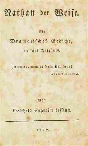 "Lessing, Gotthold Ephraim ""Nathan der Weise. Ein"