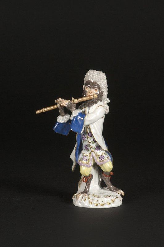 5: Affenkapelle Einzelfigur: Der Flötist.