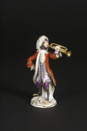Affenkapelle Einzelfigur: Der Trompeter.