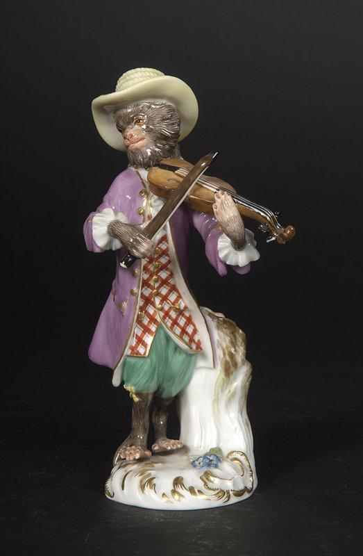 15: Affenkapelle Einzelfigur: Der Violonist.