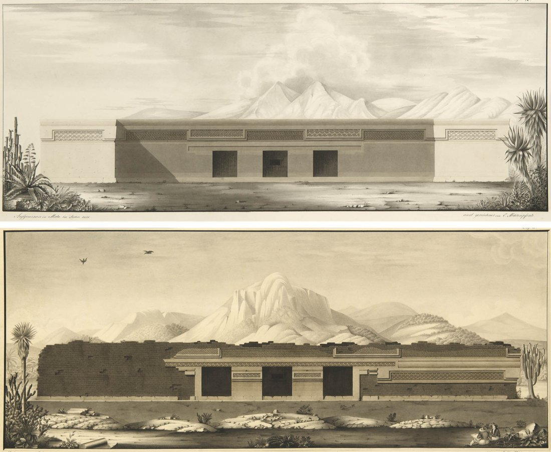South Mexican Antiquities Original Drawings Mitla 1829