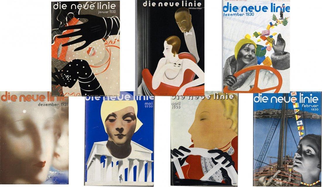 Art Deco Die neue linie 163 issues Magazine 1929-43